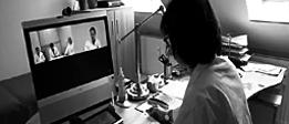 Dr.med.Silvia Lehenbauer-Dehm, Onkologische Praxis Templin, nutzt Telekonferenzen für fachlichen Austausch mit Kollegen.